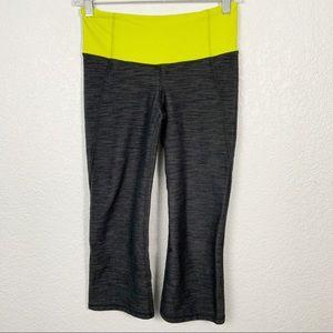 Lululemon Gray Yellow Crop Pants Size 4